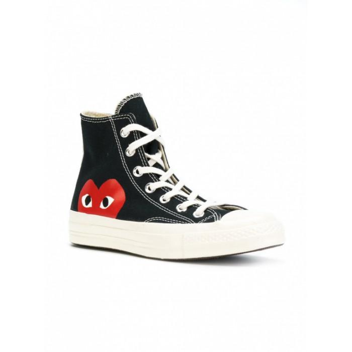 Кеды Converse x Comme Des Garcons PLAY Chuck 70 Black High 150204C